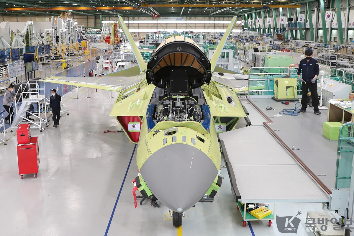 Check out the latest photos from KAI assembly line featuring KF-X 4.5th gen fighter