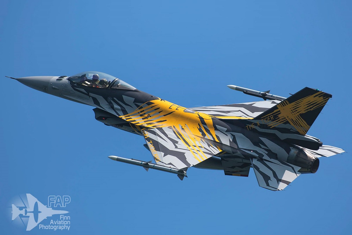 Meet 2021 XTM X-Tiger, the special painted F-16 that celebrates 70 years of Belgian Air Component's 31st Tiger Squadron